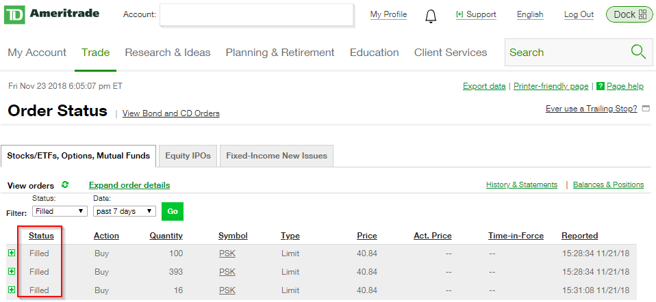 TD Ameritrade Limit Order Buy/Sell on Stocks: How To Enter 2019