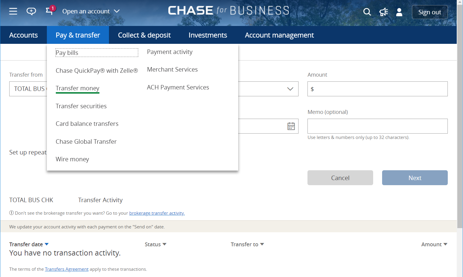 Chase You Invest Account Acat Transfer