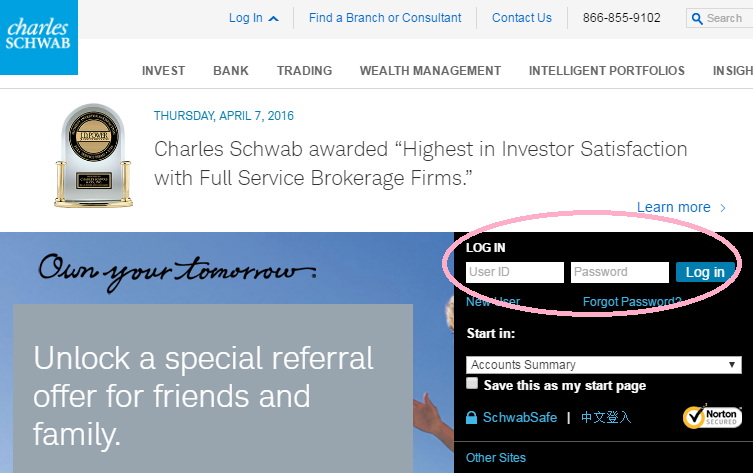 Charles Schwab Promotions, Referral Code, 500 Free Trades Offer