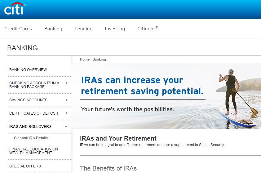 Citibank ROTH IRA Review