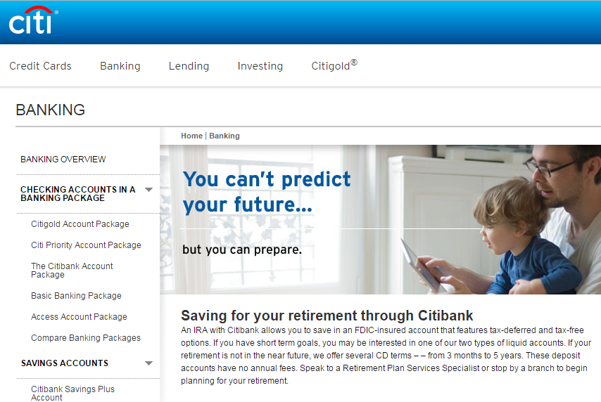 Citibank IRA Options