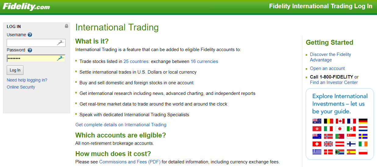 Fidelity forex trading